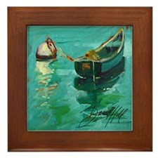 Little Boat Framed Tile
