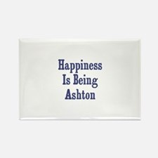 Happiness is being Ashton Rectangle Magnet