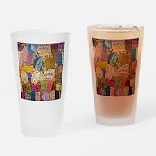 AUSTRALIAN ABORIGINAL CIRCLE ART3 Drinking Glass