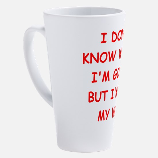 Cute Traveler 17 oz Latte Mug