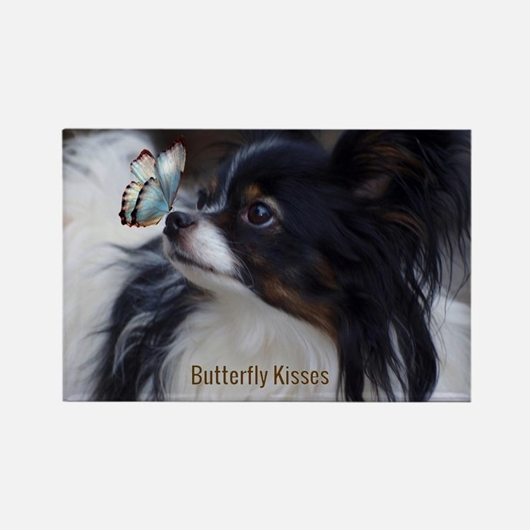 Cute Papillon Rectangle Magnet