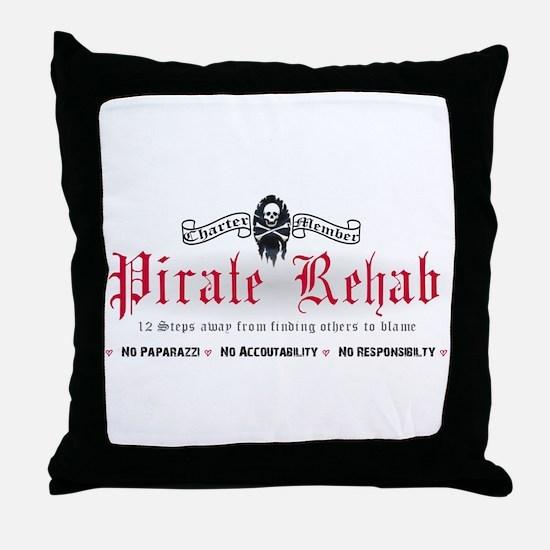 Pirate Rehab Throw Pillow