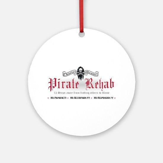 Pirate Rehab Ornament (Round)