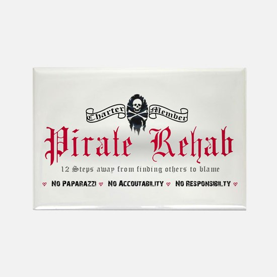 Pirate Rehab Rectangle Magnet
