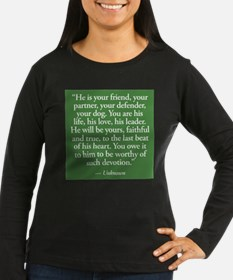 dog quote Long Sleeve T-Shirt