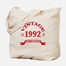 Vintage 1992 Aged to Perfection Tote Bag
