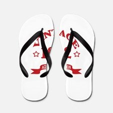 Vintage 1992 Aged to Perfection Flip Flops