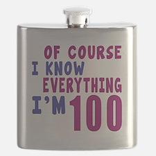 I Know Everythig I Am 100 Flask
