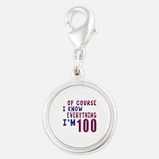 I Know Everythig I Am 100 Silver Round Charm