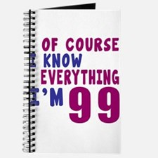 I Know Everythig I Am 99 Journal