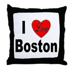 I Love Boston Throw Pillow