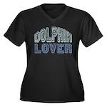 Dolphin Lover Love Porpoise Women's Plus Size V-Ne