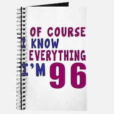 I Know Everythig I Am 96 Journal