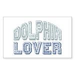 Dolphin Lover Love Porpoise Rectangle Sticker