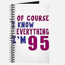 I Know Everythig I Am 95 Journal