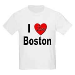 I Love Boston Kids T-Shirt