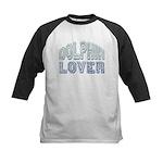 Dolphin Lover Love Porpoise Kids Baseball Jersey