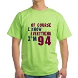 94 year old Green T-Shirt