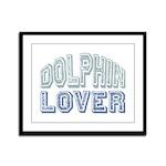 Dolphin Lover Love Porpoise Framed Panel Print