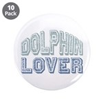 "Dolphin Lover Love Porpoise 3.5"" Button (10 pack)"