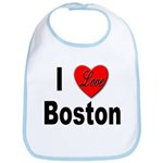 I Love Boston Bib