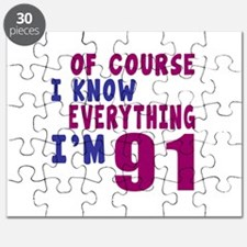 I Know Everythig I Am 91 Puzzle