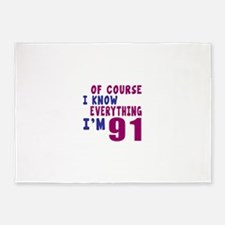 I Know Everythig I Am 91 5'x7'Area Rug