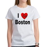 I Love Boston (Front) Women's T-Shirt
