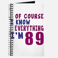 I Know Everythig I Am 89 Journal