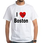 I Love Boston White T-Shirt