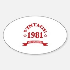 Vintage 1981 Aged to Perfection Sticker (Oval)