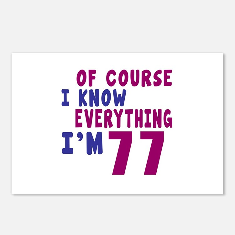 I Know Everythig I Am 77 Postcards (Package of 8)