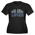 Farm Animal Lover 4h Pets Women's Plus Size V-Neck