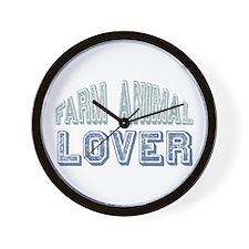 Farm Animal Lover 4h Pets Wall Clock