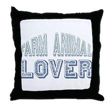 Farm Animal Lover 4h Pets Throw Pillow