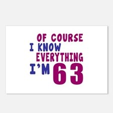 I Know Everythig I Am 63 Postcards (Package of 8)