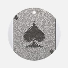 Ace of Spades Mosaic Round Ornament