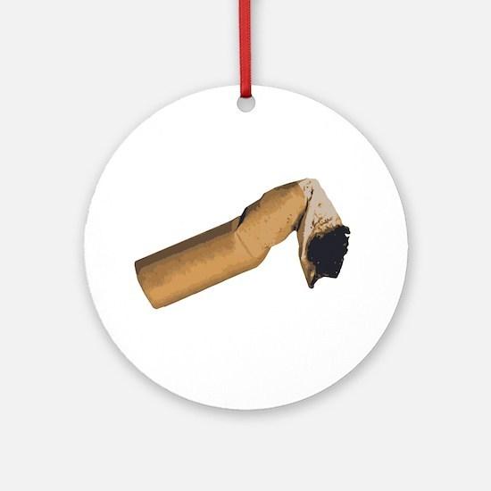 Cigarette Butt Round Ornament