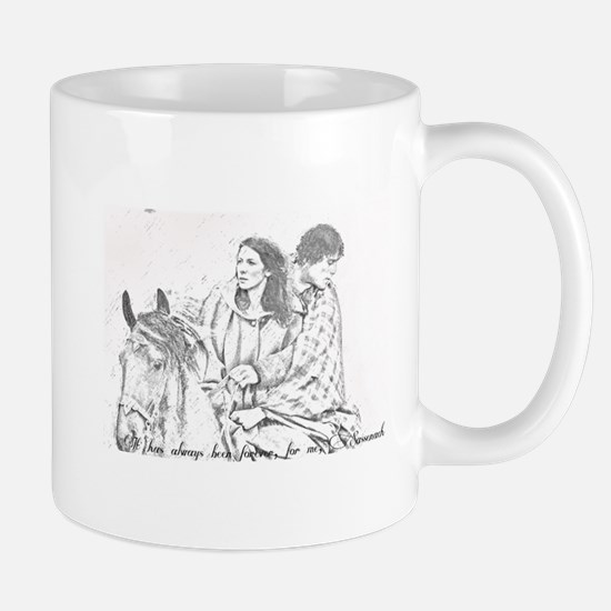 Jamie & Claire Forever Sketch Mugs