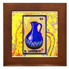 El Cantarito on Yellow Framed Tile