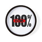 100 Percent Real Wall Clock