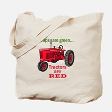 Tractors Are Red Tote Bag