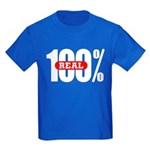 100 Percent Real Kids T-Shirt Dark Colored