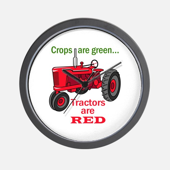 Tractors Are Red Wall Clock