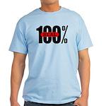 100 Percent Real T-Shirt Light Colored