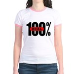 100 Percent Real Jr. Ringer Tee-Shirt