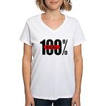 100 Percent Real Women's V-Neck T-Shirt