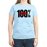 100 Percent Real Women's T-Shirt Light Colored
