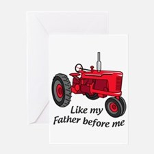 Like My Father Greeting Cards