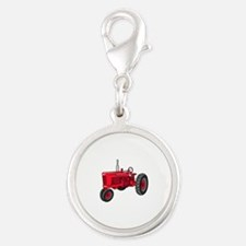 Vintage Red Tractor Charms